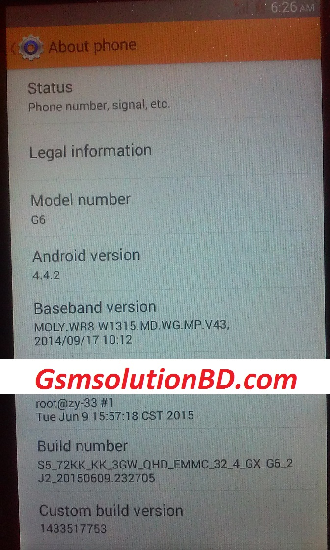 G+ G6 MT6572 4.4.2 Official firmware 1000% tested