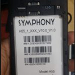 Symphony H55 ALL version firmware Download 100% tested