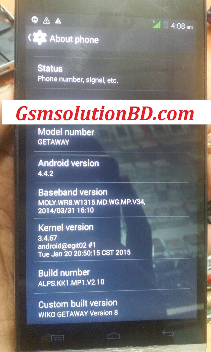Mycell Alien SX5 MT6572 4.4.2 firmware (flash file) 100% tested