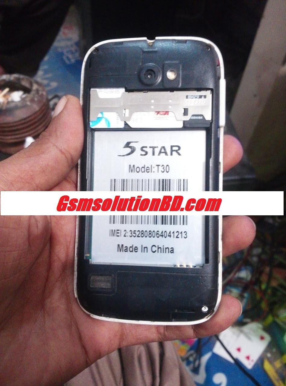 5 Star T30 MT6572 4.2.2  Bin firmware flash file