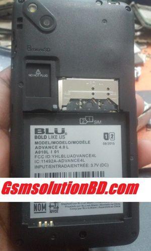 Blu Advance 4.0. L A010L_V10_1  firmware 100% tested