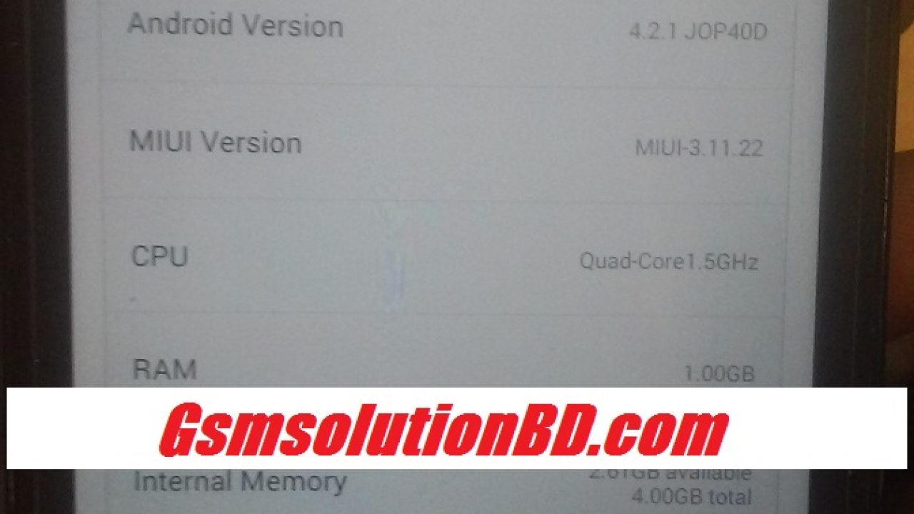 MI Xiaomi (HM2013023) V6 MT6589 4 2 1 firmware 100% tested