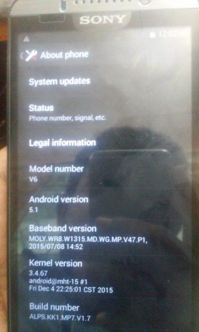 Sony X-Bo V6 MT6572 5.1(4.4.2) firmware 100% tested