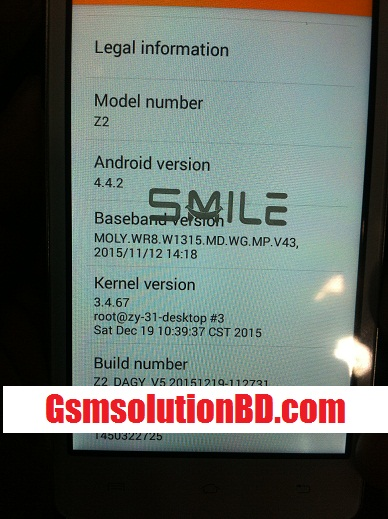 Smile Z2 Mt6572 4.4.2 firmware ( flash file ) 100% tested