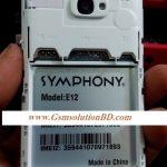 Symphony E12 Nand MT6572 Rom firmware ( flash file )