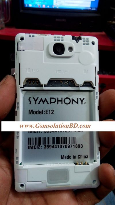 Symphony E12 Nand MT6572 Rom firmware ( flash file )