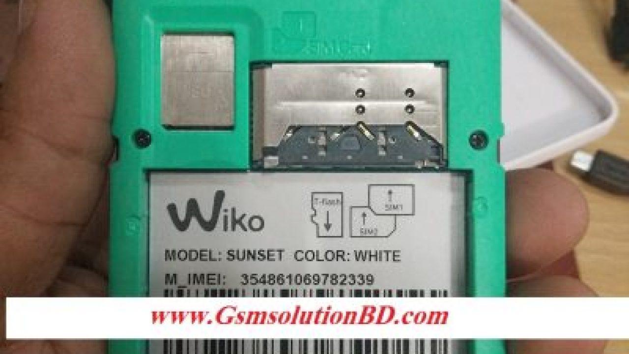 Wiko Sunset Firmware Flash File MT6572 V4 4 2 Full Tested