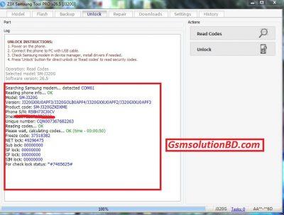 Samsung SM-J320G Unlock Done By Z3x 26.5
