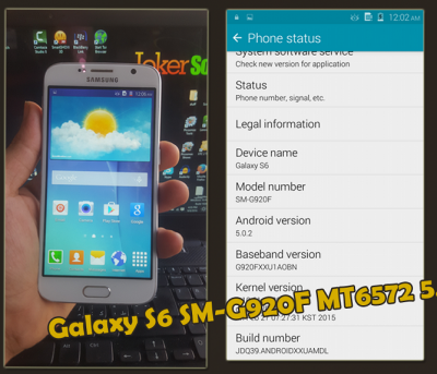 Samsung Galaxy S6 SM-G920F MT6572 5.0.2 firmware flash file Download