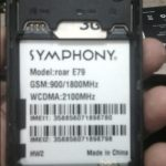Symphony E79 Firmware Flash File 100% Tested Download